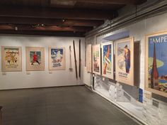"""Come to Finland, """"Paradis calling"""". Exhibition with original travel posters from 1898-2015. www.cometofinland.fi"""