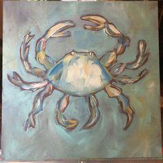crab painting by trish Jones Beach Art