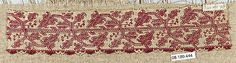 Border16th century Italy, Embroidered net, buratto.
