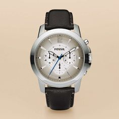 FOSSIL® Watch Collections Grant:Men Grant Leather Watch - Brown FS4533
