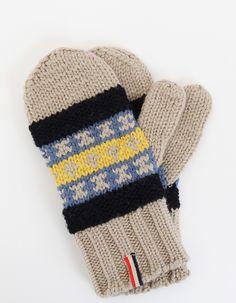 Knitted Fair Isle Gloves