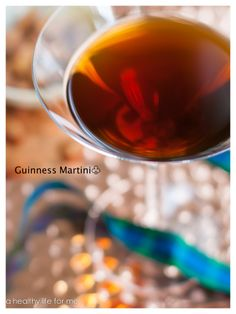 Guinness Martini - something Ted would never touch, but why not give it a try?
