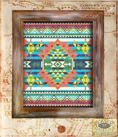 SouthWest Indian Blanket Native American Vintage Print Rustic Americana antique aztec navajo poster home decor wall art graphic design, Etsy. Motifs Aztèques, Aztec Blanket, Aztec Decor, Native American Decor, Southwest Decor, Southwest Style, Indian Blankets, My Home Design, Tapestry Weaving