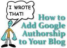 Google Authorship says YOU wrote that post by including your Google+ profile pic next to your entries on Google Search Results Pages