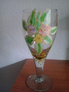 copa pintada a mano | tzaneh