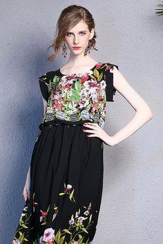 Floral Black Beach Dress Summer Dress by Enice from Enice Fashion by DaWanda.com