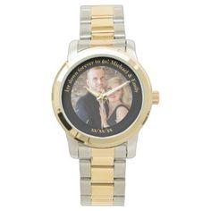 1st Wedding Anniversary unique unusual custom Wristwatch - anniversary cyo diy gift idea presents party celebration