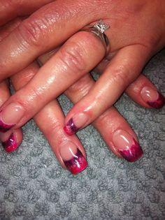 Pink & purple swirl tips