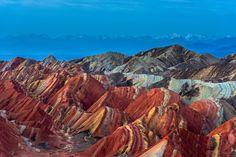 Colorful mountains, Danxia landform, Zhangye, Gansu of China