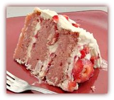 strawberry cream cake-   To make it gluten free just substitute with GF flour and such :)