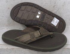 d3a62ac9b2b NEW Clarks Mens Kernick Beach Olive Thong Flip Flops Sandals Shoes 06126 sz  8 M