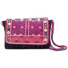 Street Level Madre Bohemian Crossbody Messenger Bag (310 HKD) ❤ liked on Polyvore