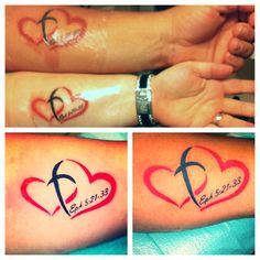 Christ Centered Marriage Matching Tattoos - Ephesians 5:21-33