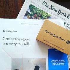 A few of my favorite things have gotten together #nytimes #dreams #nofilter #googlecardboard #dreamjob ?