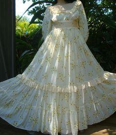 Vintage GUNNE SAX Dress Hippie Full Sunshine Prairie Dress