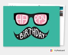 Looking for birthday gifts for him birthday wishes for boyfriend or birthday wishes for dad ? This Happy Birthday postcard design is the perfect gift idea for birthday wishes. Happy Birthday Cards Online, Hipster Birthday, Happy Birthday Clip Art, Happy Birthday Wishes For A Friend, Funny Happy Birthday Wishes, Birthday Wishes For Boyfriend, Birthday Quotes For Daughter, Birthday Greetings, 21 Birthday