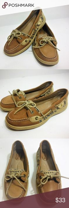 c391e0311a9 Sperry Top Siders With Sequin Leopard Print Sides Womans Sperry Top Siders  With Sequin Leopard Print