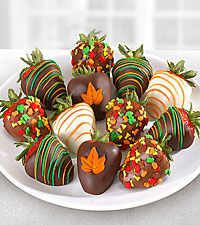 Chocolate Dip Delights™ Fall in Love with Fall Real Chocolate Covered Strawberries - 12 piece Chocolate Squares, Chocolate Dipped, Homemade Chocolate, Melting Chocolate, Chocolate Recipes, Hot Chocolate, Blackberry Syrup, Chocolate Covered Strawberries, Mini Cupcakes