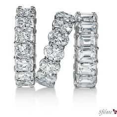 Eternity bands - i love all of these for double wedding bands - love how different they are than what everyone else has.