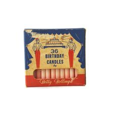 Vintage Birthday Candles Original Box Betty Bolling Pink 36 Count Unused in original box. Box shows wear and candles have faded where exposed. 36th Birthday, Pink Birthday, Vintage Birthday, Wedding Shower Games, Bridal Shower, Birthday Cake With Candles, Vintage Candles, Large Furniture, Box