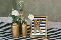 karyne_aniversario_decoracao_papelaria_identidade_visual_dourado_preto_branco_glitter (21) 30th Party, 50th Birthday Party, Grad Parties, Diy Party, Kate Spade Party, Gold Party, Shower Party, Holidays And Events, Event Decor