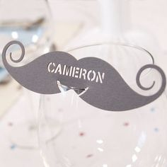 Personalised Moustache Wine Glass Name Place Card - view all sale items