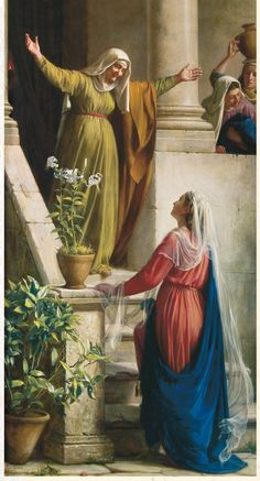MARY'S VISIT TO ELIZABETH by Carl Bloch