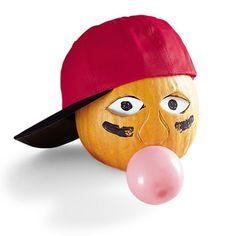 Ballplayer Pumpkin decoration for Halloween