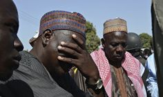 A father weeps as he joins other parents of the kidnapped schoolgirls in Chibok. This should be top news story. Where is the outrage?