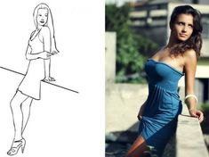 40 poses para fotos femeninas - Taringa! Poses Photo, Posing Guide, Foto Pose, Photography Poses, Strapless Dress, Photoshoot, Photo And Video, Portrait, Sexy
