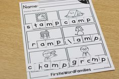 FirstieWordFamilies with FREE week! First grade word families.
