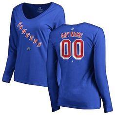Reebok New York Rangers Blue Split Logo Decision T-Shirt