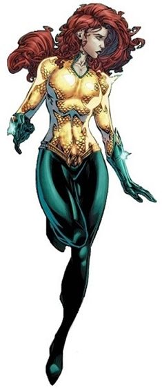 Mera, DC Comics. // Weird that I've never seen this version of her costume until now. I think I prefer it a little more over the more popular one.