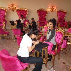 Lilly Nail Salon Design, Nail Salon Decor, Salon Interior Design, Beauty Bar Salon, Beauty Salon Design, Kids Salon, Beauty Room Decor, Kids Spa, Nail Room