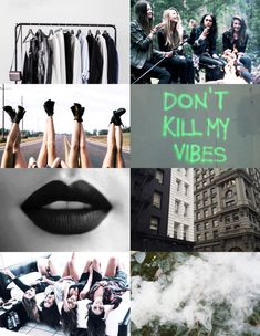 Aesthetic collage. Slytherin Girls - P.P D.G T.D M.B
