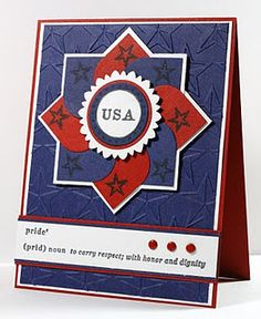 another pinwheel card...round the corners on two sides of each of the squares