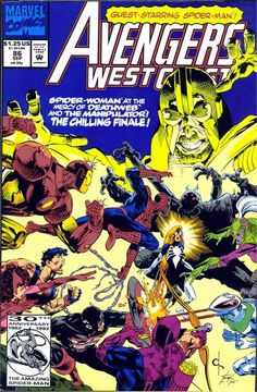 Avengers West Coast # 86 by Dave Ross & Tim Dzon
