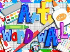 Elementary Art Word Wall- An easy way to display art vocabulary words in your classroom. Just print and hang for a colorful art word wall.The presentation includes forty six elementary art vocabulary words. It also includes the letter of each alphabet for an extra colorful wall.