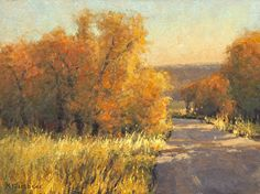 Bend in the Road by Kim Casebeer Oil ~ 12 x 16