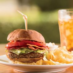 BLT Burger Recipe with homemade Sweet Onion Mayonnaise.