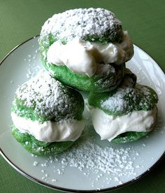 St. Patrick's Day Cream Puffs.