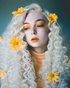 "3,520 Likes, 16 Comments - WigIsFashion (@wigisfashion) on Instagram: ""Flower season Our love @hallucineon in #wigisfashion fluffy spiral light blonde lace front wig…"""