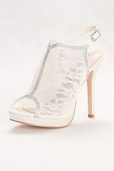 3e846a2c0fe993 Lace Slingback Platform Sandal Style MARNA52X. Bridal Wedding ShoesWedding  ...