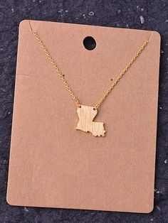 State Necklace - Louisiana
