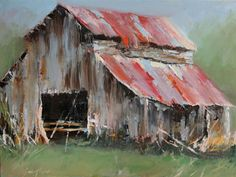 Old barn painting Farmhouse Paintings, Farm Paintings, Indian Paintings, Portrait Paintings, Watercolor Barns, Watercolor Paintings, Watercolor Artists, Abstract Paintings, Painting Art