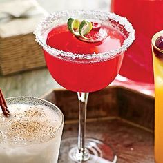 """From the kitchen of Shawnda Horn, Houston, Texas, jasonandshawnda.com""""We love cranberry margaritas because they're beautiful and festive,..."""