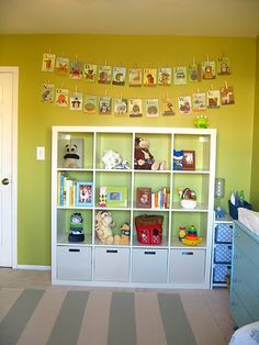 alphabet cards & bookcase for big girl room or playroom. CUTE IDEA FOR THE BOOKS!
