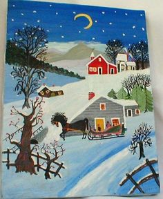 known as an American primitive artist - she began painting after she was in her 80's