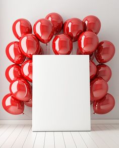 mock up poster in interior background with red balloons, illustration Happy Birthday Frame, Happy Birthday Wallpaper, Happy Birthday Photos, Birthday Frames, Happy Birthday Greetings, Birthday Photo Frame, Balloon Background, Flower Background Wallpaper, Framed Wallpaper
