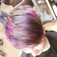 #faroukchi#chromashine#purplepink#shorthairstyle#😍